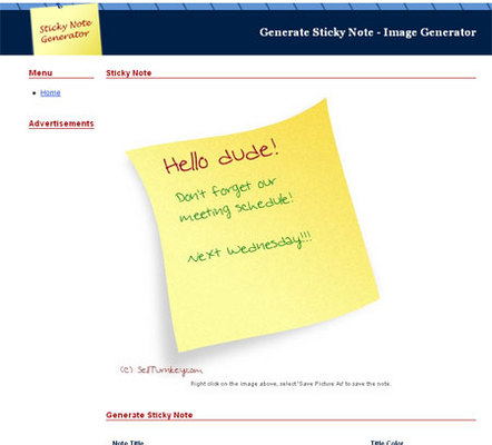 Product picture Turnkey Script: Sticky Note Generator